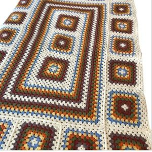 Granny Square throw blanket Afghan